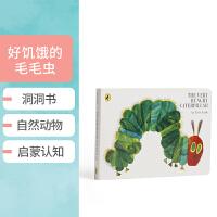 英文原版 The Very Hungry Caterpillar饥饿的毛毛虫 廖彩杏推荐书单 幼儿启蒙纸板书 Eric Carle艾瑞卡尔爷爷洞洞书