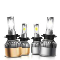 汽车led大灯H7超亮远近光灯前照灯灯泡一体H4改装H1H119005改装用
