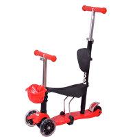 【当当自营】炫梦奇儿童滑板车 可坐玩具车 四轮闪光 可调高低 粉色