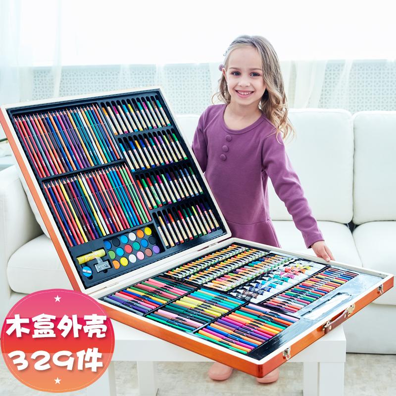 儿童画笔套装72色水彩笔套装彩色笔礼盒36色生日礼物彩笔幼儿园文具 品质生日礼物 开学礼物