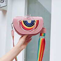 个性小包包女2020新款潮圆环手提单肩小方包韩版上新宽带斜挎女包