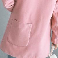 时尚名媛加绒加厚毛呢外套女冬季新款学生连帽保暖韩版呢子大衣女