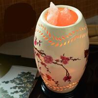 七夕情人节礼物创意礼品 生日情人节礼物朋友客户领导中国风台灯床头灯水晶盐灯