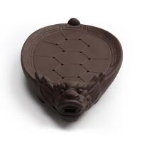 茶盘茶海圆形茶台排水式 紫砂荷花壶承复古干泡盘储水茶托壶托