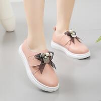 儿童板鞋女童皮鞋春秋2018新款韩版公主鞋软底小白鞋学生演出鞋子