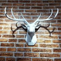 北欧鹿头壁挂创意墙饰动物头壁饰欧式家居客厅装饰品会所挂件