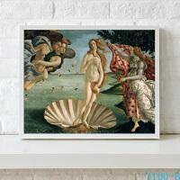 维纳斯诞生 欧式古典油画客厅装饰画现代简约酒店挂画壁画有框画 红色