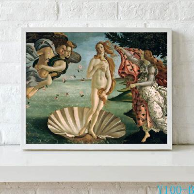 维纳斯诞生 欧式古典油画客厅装饰画现代简约酒店挂画壁画有框画 红色 一般在付款后3-146天左右发货,具体发货时间请以与客服协商的时间为准