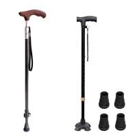 老人拐杖老年人实木手柄碳纤维拐杖伸缩碳素手杖超轻防滑拐棍
