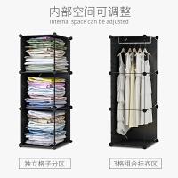 简易衣柜现代简约租房柜子出租屋小卧室收纳塑料家用挂衣橱经济型