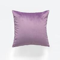 天鹅绒丝绒抱枕 纯色沙发腰枕靠枕 靠背垫床头大靠垫抱枕套不含芯