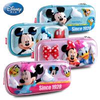 迪士尼笔袋米奇米妮EVA防摔轻便小学生大容量铅笔袋儿童文具盒男 轻便防摔防水耐脏