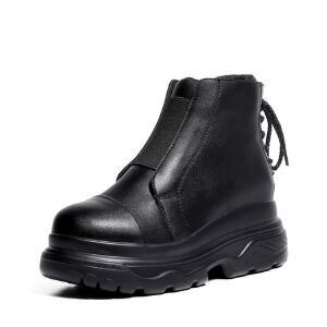 WARORWAR 2019新品YM88-X1628冬季韩版低跟鞋舒适女鞋潮流时尚潮鞋百搭潮牌靴子切尔西靴短靴