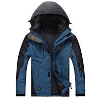 户外冬季冲锋衣男三合一两件套套装衣裤女防风登山服