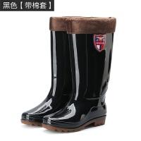雨鞋男女高筒防滑防水雨靴牛筋底绝缘劳保鞋长筒加棉保暖水靴