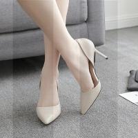 高跟鞋冬季2018新款秋新娘鞋尖头白色细跟女鞋婚鞋伴娘鞋小码单鞋SN6574 39 穿上变女神 女款