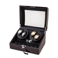 迷你型保险柜专藏摇表器钢琴漆五模式表盒 4+6黑檀+黑 开盖自停618特价