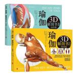 瑜伽3D解剖书1肌肉篇+2动作篇(共2册) 瑜伽教程书籍大全 基础瑜伽初级入门 拉伸瑜伽书 瑜伽解剖学 瑜伽教练书教材