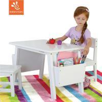 Inf.实木儿童桌椅套装幼儿园学习桌宝宝游戏桌家用绘画玩具小书桌