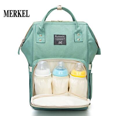 莫尔克 宝妈妈外出包韩版妈咪包多功能大容量双肩背包牛津布帆布婴儿孕妇母婴包书包