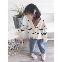2018秋装新款儿童洋气毛衣女童春秋针织开衫外套男女宝宝毛线衣潮
