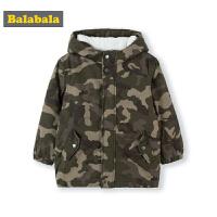 巴拉巴拉儿童棉衣童装秋冬2018新款男童宝宝加绒保暖棉袄外套加厚