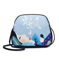 莫尔克18新款时尚印花双肩包女包单肩斜跨包韩版时尚小包包
