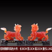 一对中式摆件招财吉祥物风水家居装饰摆设工艺品开业*