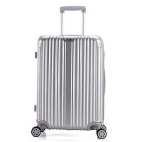 行李箱女24寸旅行箱万向轮拉杆箱密码箱包20寸登机箱男28寸皮箱子 银色 银色