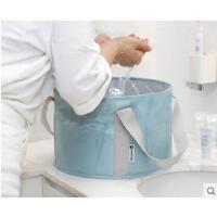 手提水盆旅行洗脸盆户外用品可折叠水盆旅游便携式泡脚桶洗脚盆折叠水桶