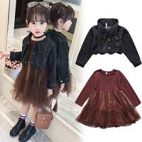 女童套装春装新款女大童韩版潮衣儿童洋气春秋裙子两件套童装