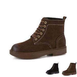 WARORWAR新品YM159-E901-2秋冬休闲平底舒适女士靴子短靴