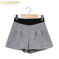 【1件3折价:149.4元】 Eland kids衣恋童装春季新品女童阔腿短裤外穿
