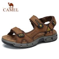 camel 骆驼男鞋夏季潮流休闲凉鞋高弹轻便沙滩鞋魔术贴凉鞋男