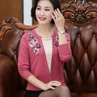 中老年女装新款圆领羊毛打底衫40-50岁妈妈装秋装长袖毛衣潮