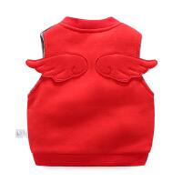 婴儿衣服春秋冬女童外套装1岁0男宝宝加厚保暖马甲