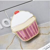 韩版新款包包斜挎包女童时尚挎包公主出游小包包女孩链条包