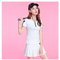 高尔夫衣服女夏短袖t恤polo衫连衣裙子韩版裙裤套装时尚golf球衣