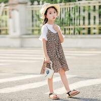 女童连衣裙夏季新款韩版女孩洋气中大儿童装吊带碎花公主裙潮