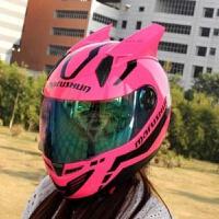 摩托车头盔男个性酷犄角电动车头盔女全盔四季通用防雾夏季安全帽