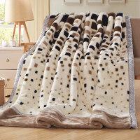 毛毯加厚双层单人双人珊瑚绒毯子秋冬季婚庆保暖学生盖毯 200x230 双层加厚约9斤