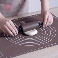 日本霜山吉川硅胶擀面杖和擀面垫不粘揉面垫饺子和面板烘焙软案板