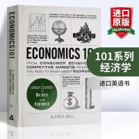 101系列 经济学 英文原版 Economics 101 英文版原版书籍 进口英语书 Adams Media Corp