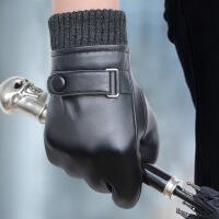 №【2019新款】冬天带的皮手套男士山羊皮加厚薄款防寒触屏真皮手套开车