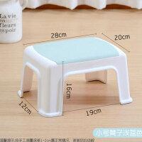 小凳子塑料板凳家用儿童凳加厚卡通踩脚胶凳脚踏宝宝矮凳洗澡简约家居家用生活卫生清洁小板凳