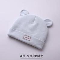 新生儿帽子春秋薄款胎帽0-3个月6男女宝宝初生婴幼儿秋冬婴儿帽子