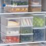 inomata日本进口冰箱保鲜盒食品收纳盒密封盒水果蔬菜冷藏储物盒
