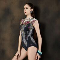 新款女士显瘦保守连体泳衣女复古性感泡温泉运动三角遮肚游泳衣女
