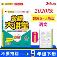 2020春版 金榜大讲堂 部编人教版 语文九年级下册