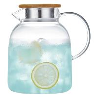 冷水壶玻璃耐高温家用耐热加厚大容量白开透明凉水杯防爆